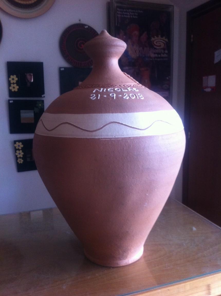 Hucha grande de cerámica