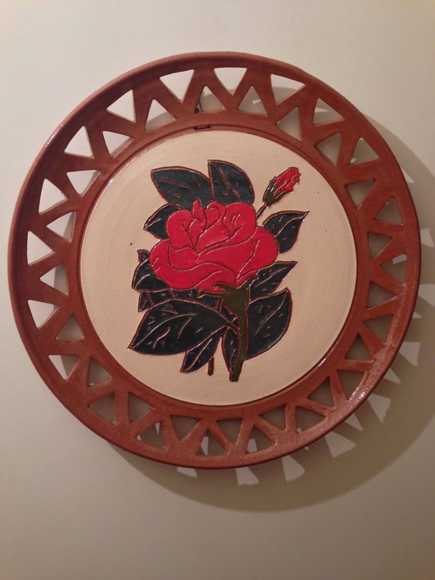 Plato de cerámica artística