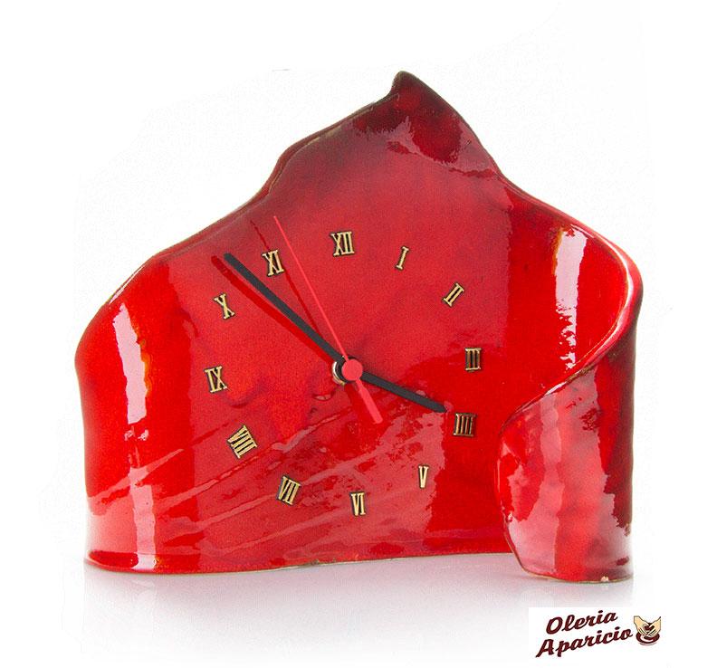 Reloj en cerámica artesanal