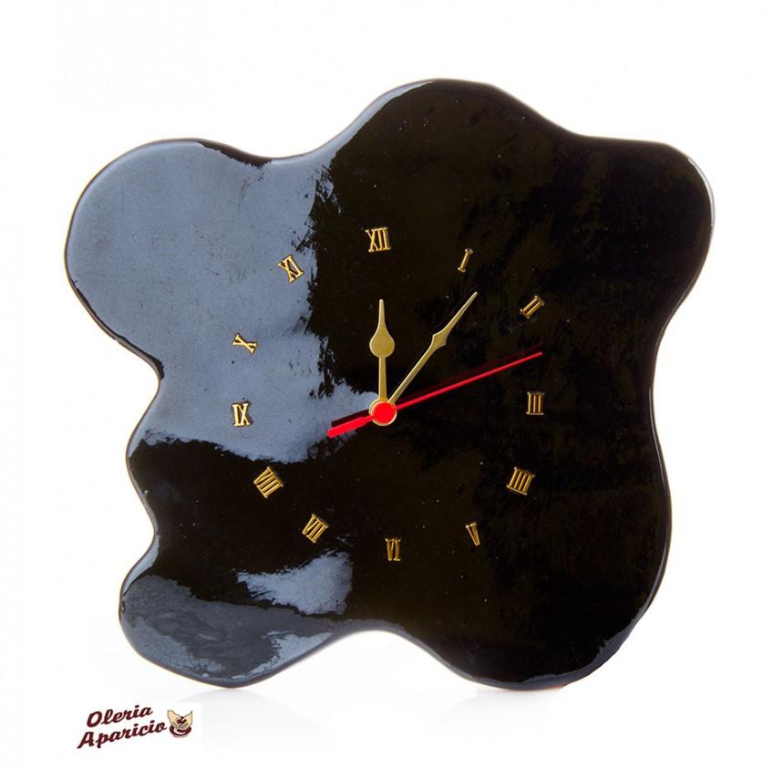 Reloj de pared en cerámica artesanal