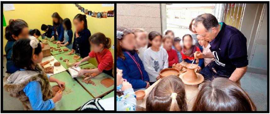 talleres artesanales para colegios y niños