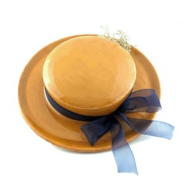 Sombrero de colgar amarillo aparicio alfareria de buño