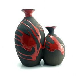 combinación ánforas rojas alfareria decorativa oleria de buño